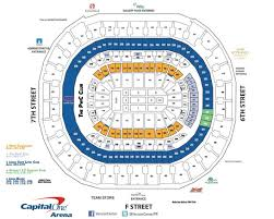 Verizon Center Seating Chart For Hockey Capital One Arena Seating Charts For Concerts Events C