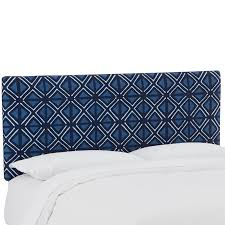 blue upholstered headboard. Exellent Blue Mudcloth Indigo Blue Upholstered Queen Size Headboard  RC Willey Furniture  Store And A