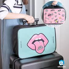 korean cloth makeup storage bag travel luge toiletry