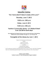 yankton library babysitting training yankton library babysitting training