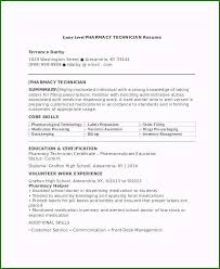 Entry Level Pharmacy Technician Resume Magnificent 7 Sample