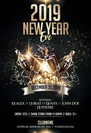 New Year Flyers Template Luxury New Year Eve Free Psd Flyer Template For New Year Parties
