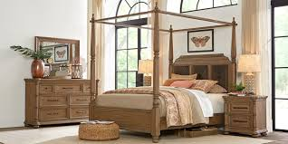 Cindy Crawford Home Grand Cayman Sandstone 6 Pc King Canopy Bedroom