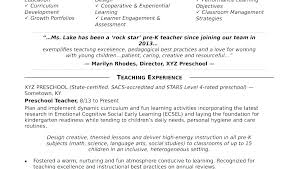 Teacher Resume Objective Custom Teacher Objective Resume Examples Teacher Resumes Examples