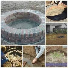 marvelous round brick fire pit design images ideas with how to build a round fire pit with bricks