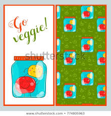 Apples To Apples Card Template Go Veggie Card Template Apples Stock Vector Royalty Free 774805963