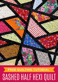 New Friday Tutorial: The Sashed Half Hexagon Quilt &  Adamdwight.com