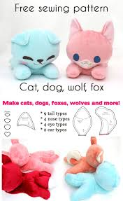 Design A Stuffed Animal Free Online Free Kawaii Sewing Patterns To Make Your Own Stuffed Animals