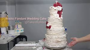 How To Make Rustic Fondant Wedding Cake By Chef Ross Paris