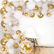 Hello friends, today first time i am going to show you a very easy, basic and anyone can make this balloon decoration at home. Amazon Com Diy Balloon Arch Garland Kit 138pcs Party Balloons Decoration Set Gold Confetti Silver White Transparent Balloons For Bridal Baby Shower Wedding Birthday Graduation Anniversary Party Toys