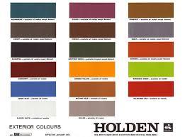 Isuzu Colour Chart 1974 1980 Holden And Torana Paint Charts Paint Panel