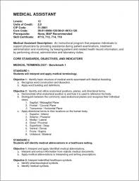Cover Letter Resume Example Medical Assistant Resume Sample
