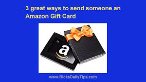 send someone an amazon gift card