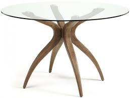 serene islington walnut round dining table
