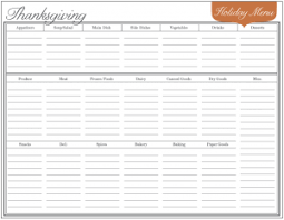 Holiday Planner Template Free Download Event Menu Planner For Holiday Meals And