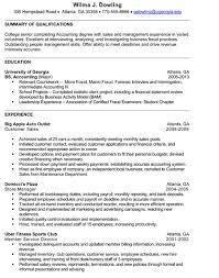 Resume Student Sample College Senior Resume Examples On Resume