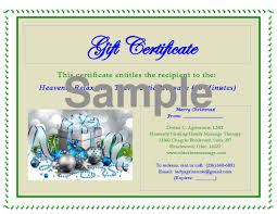 gift certificates cleveland massage therapy gift certificate sample massage