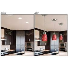 recessed lighting converter change recessed lights into a pendant lights or ceiling lights conversion adapter for can lights