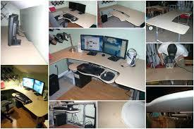 unique built in computer desk ideas interior designing custom design extraordinary coolest with how to build a ergo