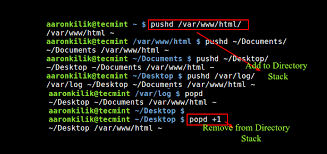 Use 'pushd' and 'popd' for Efficient Filesystem Navigation in Linux