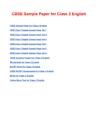 Cbse class 2 english ncert solutions. Cbse Sample Paper For Class 2 English Based On Revised Cbse Syllabus 2020 21 By Studies Today Issuu