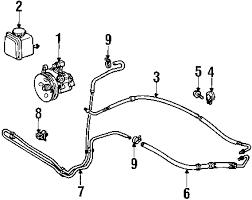 parts com® mercedes benz ml430 p s pump hoses oem parts 2001 mercedes benz ml430 base v8 4 3 liter gas p s pump