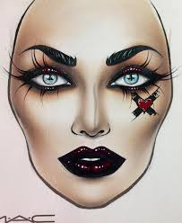 Pin By Madeline Kay On Halloween Makeup Makeup Face Charts