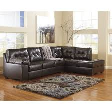 ashley furniture alliston 2 piece leather sectional sofa in chocolate 20101 17 66 kit