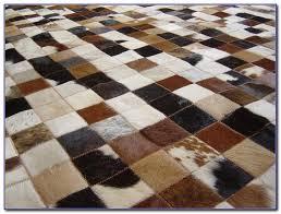 patchwork cowhide rug canada