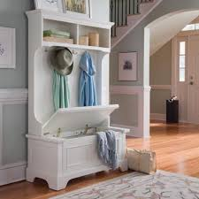 Entry Hall Bench Coat Rack White Wooden Hall Tree Entryway Bench Coat Rack Hat Storage Hanger 38