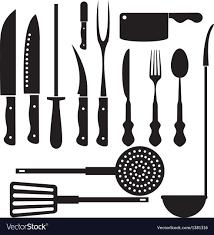 kitchen utensils silhouette vector free. Simple Vector Kitchen Tool Silhouette Vector Image On Utensils Silhouette Vector Free