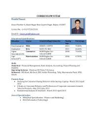 mba fresher resume samples template mba freshers resume format