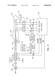 patent us5144564 rotor position estimation of a permanent magnet patent drawing