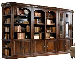 Image Back Wall Fivepiece Library Wall Unit Dunk Bright Furniture Hooker Furniture European Renaissance Ii Fivepiece Library Wall
