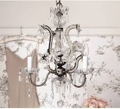 sienna metal and glass french chandelier vintage