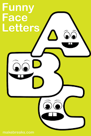 Funny Face Templates Free Printable Funny Face Letters For Teachers
