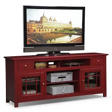 merrick  tv stand  red  value city furniture