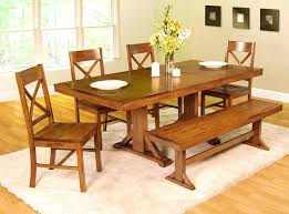 Picnic Table Dining Room Bedroom Picturesque Dining Table Bench Style Gallery Corner Set