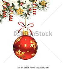 hanging christmas ornaments vector. Delighful Vector Single Christmas Ornament  Csp5762386 Throughout Hanging Ornaments Vector S