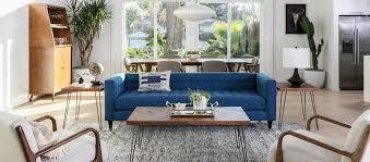Mid century modern chair styles Ottoman Midcentury Modern In The Living Room Ebay Mid Century Modern Living Room Style Tips Living Spaces