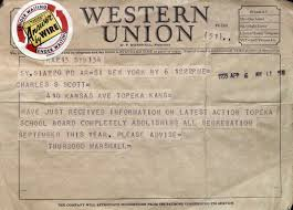 kenneth spencer research library blog acirc brown v board of education telegram from thurgood marshall to charles scott