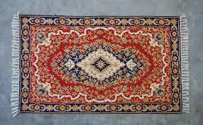 silk hand hooked rug 3 x5