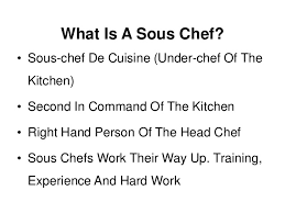 2 what is a sous chef sous chef duties