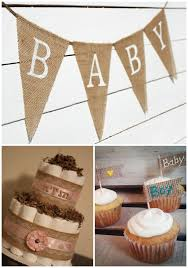 Burlap Baby Shower Decorations  Rustic Baby ChicBaby Shower Burlap Banner