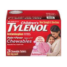 Children S Chewable Tylenol Dosage Chart Tylenol Childrens Childrens Tylenol Chewables Bubblegum