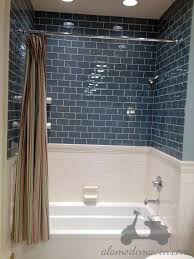blue bathroom tile ideas: but subway on bottom arabesque on top bath arabesque tile design ideas pictures