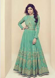 Colors To Wear With Light Blue Designer Light Blue Color Party Wear Anarkali Salwar Kameez