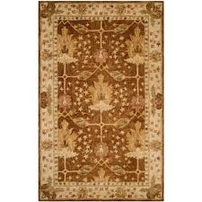 safavieh antiquity hand tufted wool 7 6 x 9 6 area rug brown beige only