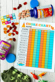 Free Printable Chore Charts For Kids Play Party Plan