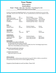 Free Musician Resume Template Template Audition Resume Template 98